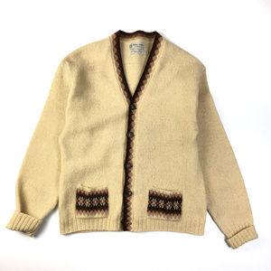 Vintage Towne and King Geometric Cardigan Sweater